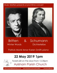 poster for 22 May concert